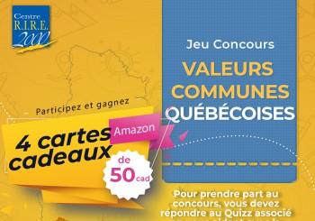 JEU CONCOURS – Valeurs communes québécoises